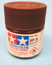 Tamiya FLAT Acrylic Hobby Model Paint Acrylic XF9 HULL RED  23ml 81309