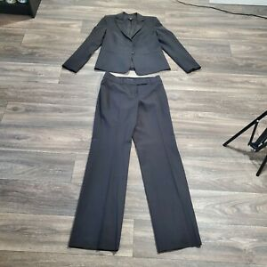 Ann Taylor Wool Jacket & Pants Suit Set Petite Dark Brown, Jacket 6p, Pants Sz 2