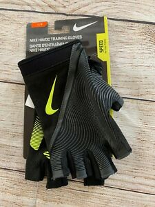 Nike Men's Havoc Cross Training Gloves Color Black Neon Yellow Large L