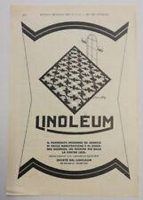 Pubblicità 1929 PAVIMENTO LINOLEUM MILANO advertising reklame publicitè werbung