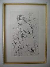 "Augeste Renoir ""The Bather"" Re-Strike Etching Arches Paper Framed Circa 1900"