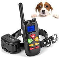 Dog Training Collar With Remote Waterproof Electric Pet Shock Collar Waterproof