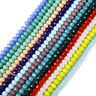 Rondelle Faceted Jade Crystal Glass Loose Spacer Beads 4/6/8/10mm Jewelry DIY Du