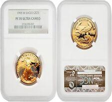 Usa 1995W Eagle $25 1/2 oz Gold Coin Ngc Pf70 Ultra Cameo