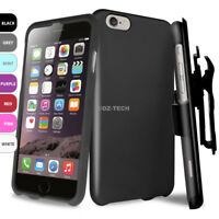 For Apple iPhone 6 3 in 1 Rubber Slim Phone Case Cover Belt Clip Holster+Screen