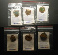 1989 LOS ANGELES DODGERS UNOCAL 76 PIN SET #1 - 6 w/ header cards