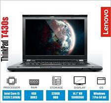 Lenovo Thinkpad T430s Laptop Core i5 2.60GHz 4GB RAM 320GB HDD Webcam Warranty