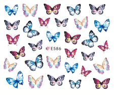 Nail Art Decals Transfers Stickers Yellow Butterflies (E586)