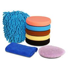 "SPTA 8Pcs 6.5"" Compound Buffing Sponge Polishing Pad Kit For Car Polisher Waxing"