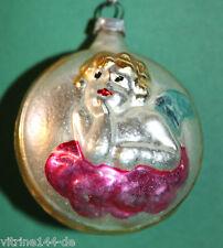 Christbaumschmuck Weihnachtsschmuck Kugel ENGEL Raphael-Engel Wolke Glas um 1920