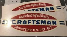 "Craftsman lathe vintage style 40's decal 3 5/8"" 2 for 1"