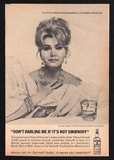 1967 SMIRNOFF VODKA AD~ZSA ZSA GABOR~HARTORD,CONNECTICUT~Liquor~Martini