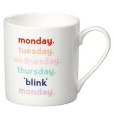 New Wild & Wolf Yes Studio Monday Blink Bone China Mug Gift Boxed Coffee Cup