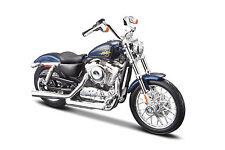 HARLEY-DAVIDSON 2012XL 1200V Seventy-Two Azul Oscuro 1:18 Modelo De Motocicleta