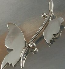 925 STERLING SILVER Butterfly on Branch Design CHARM PENDANT 16mm x 18mm