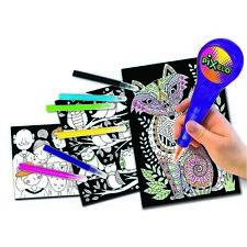 John Adams pixelo Neon PENNA ELETTRONICA KIT Da Colorare Bambini Doodle PENNE ART Playset