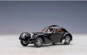 50946 AUTOart 1:43 Bugatti Type 57SC Atlantic 1938 Black/Disc Wheel model car
