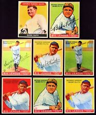 Set of 8 1933 Goudey Babe Ruth Reprint cards New York Yankees
