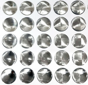 25x Mirror Prism Gel Domed Stickers 25mm 1 Inch Self Adhesive Bottle Caps
