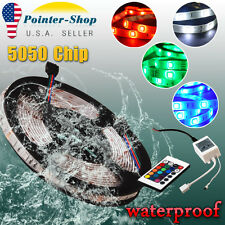 Multicolor Waterproof  5M 300 LED 5050 SMD RGB Strip Light 24 Key Remote DC 12V