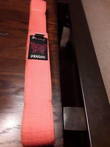 Double Dragon Size 1 Orange Belt Karate Martial Arts Taekwondo Judo Double Wrap