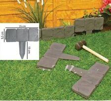 Paquet de 10 pavées effet pierre pelouse jardin bordure plante - simplement
