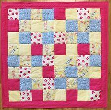 "Baby Girl Quilt Pink Angels Handmade Crib Blanket 40"" x 40"" New"