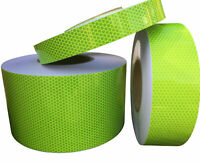 High Intensity Reflective Tape Hi Viz Lime 100mm x 2.5m