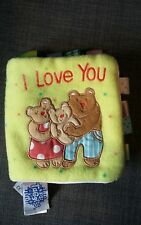 My First Taggies Book I Love You Bears Cloth Book Soft Toy Taggies