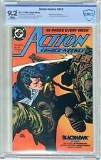 Action Comics  #616  CBCS  9.2  NM-   White pgs  11/88  Blackhawk cover & App.