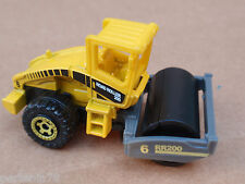 2010 Matchbox ROAD ROLLER 37/100 Construction LOOSE Yellow