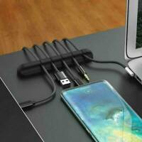 1pcs Cable Clips Self-Adhesive Desk Cord Management Organizer Wire USB Holder
