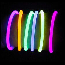 """500 10"""" Glow Light Sticks Night Safety Party Bracelets"""