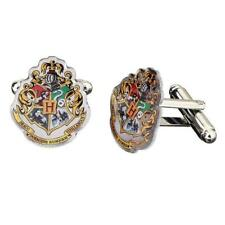 Official Genuine Harry Potter Silver Plated Hogwarts Crest Cufflinks, Boxed