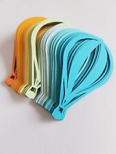 Card Stock Blue, Orange, Yellow, Mint Green Mixture Hot Air Balloon Die Cut Outs