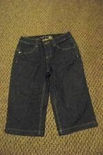 womens ruff hewn below the knee dark wash denim jeans shorts size 4 27 x 16