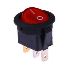 Interrupteur à Bascule 12V On-Off Rouge Lumineux Rond Diamètre 23mm