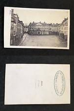 France, Saint Omer, vue d'une place, circa 1870 vintage cdv albumen print -