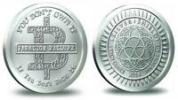 2014 SS Bitcoin Paradigm Failure Silver Shield Round Coin 1 oz 999 Fine Bitcon