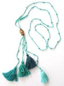 Seas and Breeze Boho Buddha beaded tassel women handbeaded necklace pendant