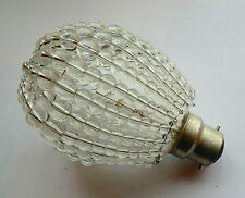 CHANDELIER GLASS CRYSTALS BEADS GLS NEWTON LIGHT BULB COVER LAMP SHADE RETRO