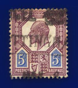 1911 SG293 5d Dull Reddish Purple & Bright Blue M30(2) Good Used Cat £22 cuym