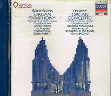 CD album: Saint-Saens - Poulenc. Zubin Mehta - Iona Brown. decca. C1.