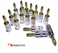 16X Nakamichi Banana Plugs HiFi Pro Quality Gold plated Speaker Plugs UK