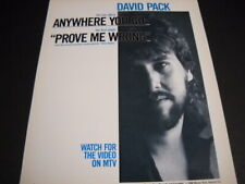 David Pack watch for the video on Mtv of Prove Me Wrong 1986 Promo Poster Ad