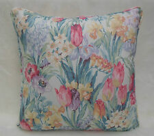 Sanderson Fabric Cushion Cover 'Salad Days' Porcelain/Pink 100% Cotton - Vintage
