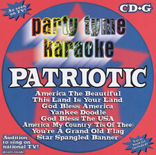 Party Tyme Karaoke Patriotic Music CD CD+G Karaoke Machine music USA NEW!