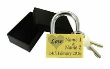 Wedding Gift Love Lock Personalised Engraved Padlock Present Anniversary Box