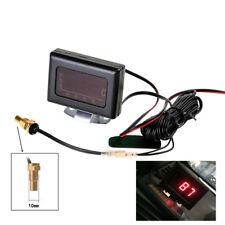 Universal Car Digital Water Temperature Gauge Kit + Temp Sensor Plug 10MM 12/24V