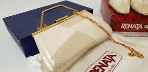 Renata Italian Pearl Leather  Bag